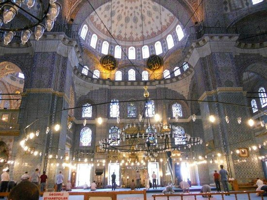 Yeni Cami: the amazing interior of the New Mosque