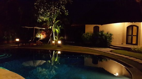 The Dusun: Night view of the pool