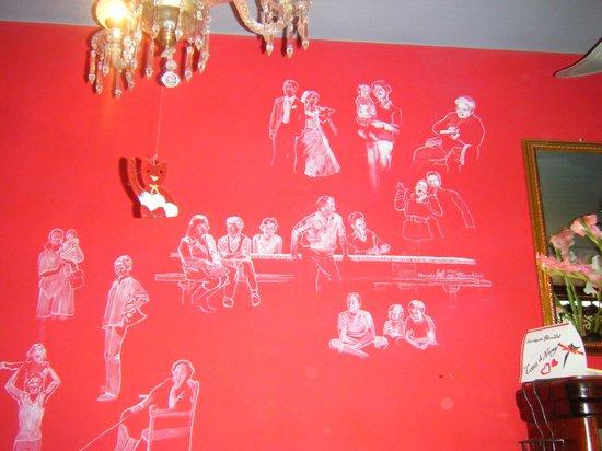 Croissanteria Dulceria Bianchini : dibujos de la familia de la propietaria de origen italo-suizo
