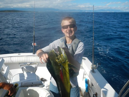Rancho Leonero Resort: Nice Dorado, his first, and we had the chefs cook it up that night