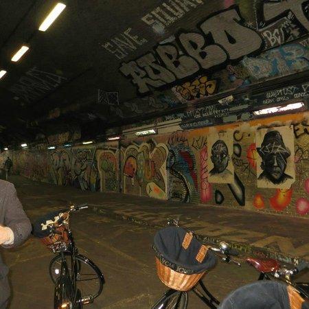 Tally Ho! Cycle Tours: graffiti tunnel
