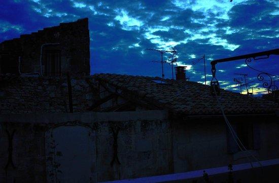L'Aubergine Rouge: Vista dalla terrazza