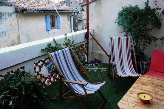 L'Aubergine Rouge: La nostra terrazza!