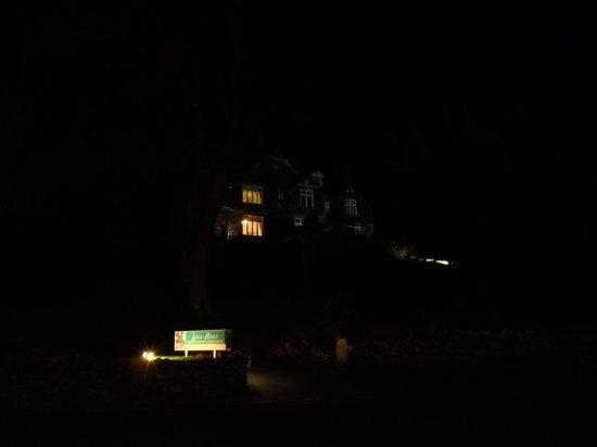 lake house at night