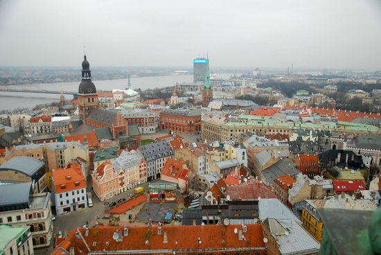 View of Riga from St Peter's Church Tower : Вецрига