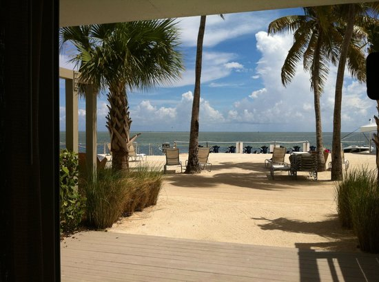 Postcard Inn Beach Resort & Marina at Holiday Isle: The patio outside of our sliding glass door - WOW!!