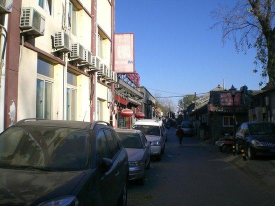 Zaoyuanju (Hutong Inn): La rue de l' hotel