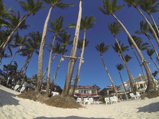 Crystal Sand Beach Resort: Пляж у отеля. вид на отель