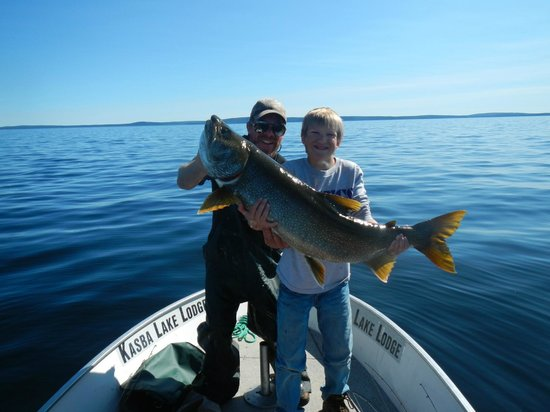 Kasba Lake Lodge: 30lb Laker caught by my 13 year old son