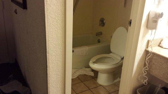 Quality Inn & Suites: Really small bathroom