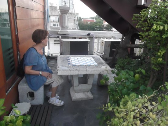 D&D INN : en la terraza