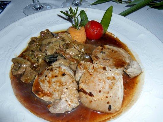 Au val d'Azergues : Filet mignon de porc sauce périgourdine