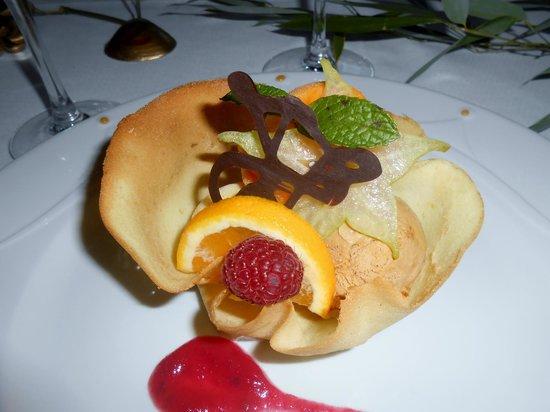 Au val d'Azergues : Dessert, panier de sorbets