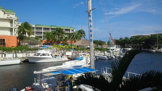 Holiday Inn Key Largo: View from Marina View room, ground floor