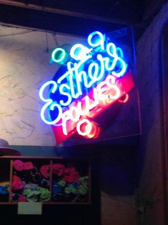 Esther's Follies: Waiting area