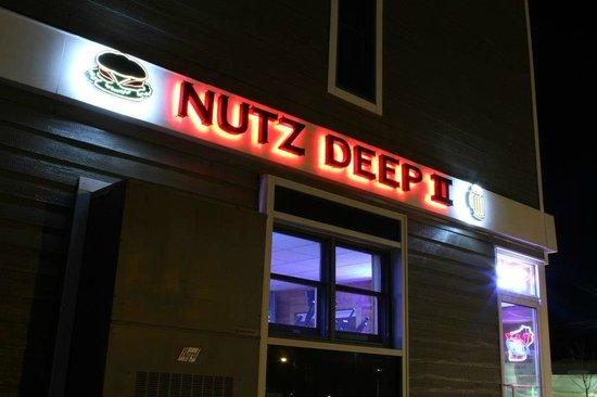 Nutz Deep II sign at night