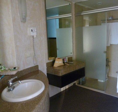 Hotel Marbella: Vista parcial del baño suite Orquídea