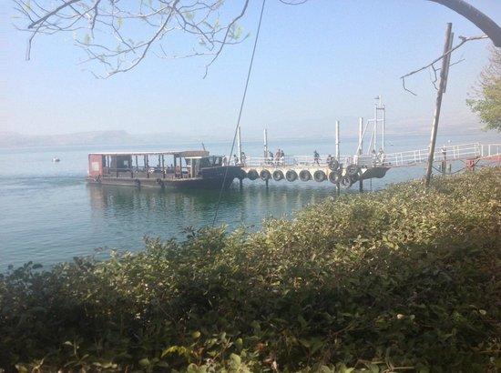 Ein Gev Fish Restaurant : l'embarcadère pour la traversée du lac