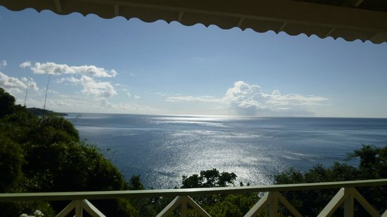 Mango Bay Cottages: Blick vom Balkon