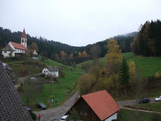 Naturparkhotel Adler St. Roman : vue de la chambre