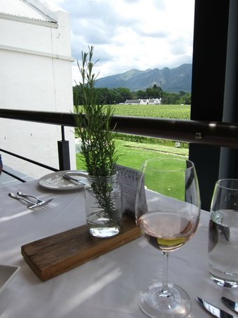 Holden Manz Country House: View from the restaurant terrace