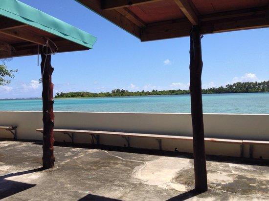 Lopana Villas: View to the island