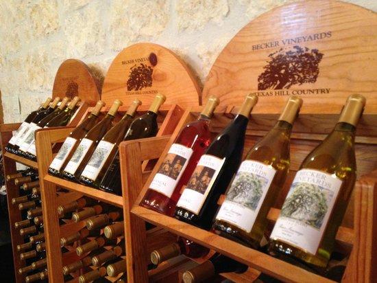 Becker Vineyards : Wine selection