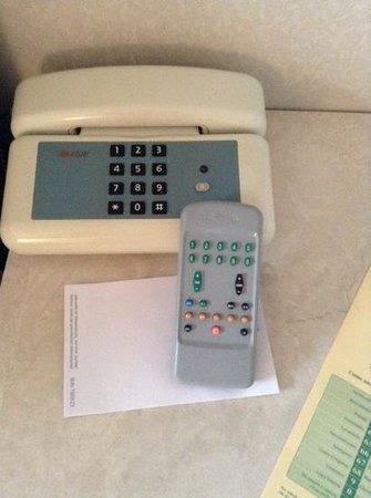 Conference Florentia Hotel: telephone et telecommande 70s