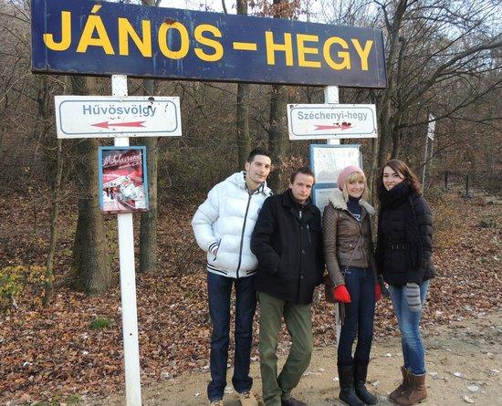 Janoshegy : dit is werkelijk een station :-)