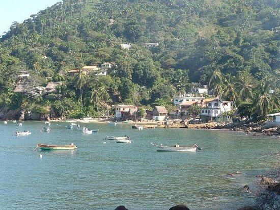 Hotel Lagunita: Fishing boats in bay