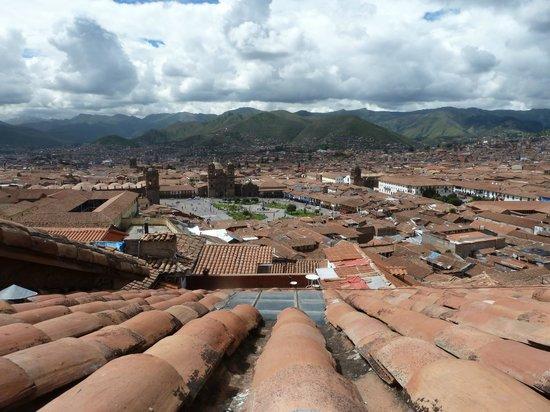 Piccola Locanda: udsigt fra tagterrassen