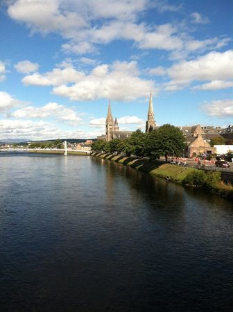 Sunday morning of the River Ness from the bridge
