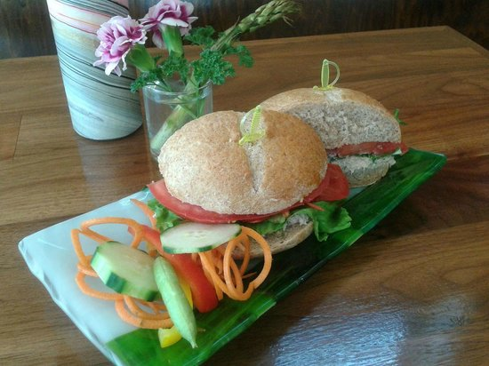 Jimmy Anderson's Casual Gourmet : Sandwiches come with a fruit and vegetable garnish