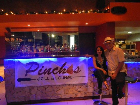 Pinchos Grill & Lounge: Proud owners Nereyda & Arturo