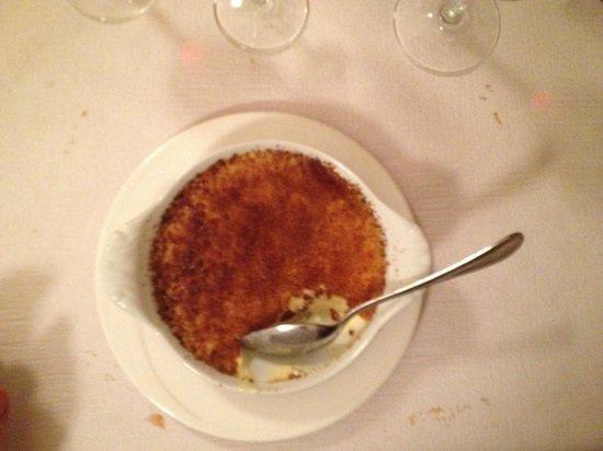Cafe Restaurant des Voyageurs : Crème brulée