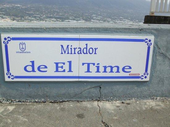 Mirador El Time: Marble sign location