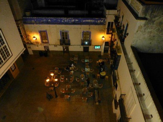 La Casa de la Favorita: View of the plaza below from the room.