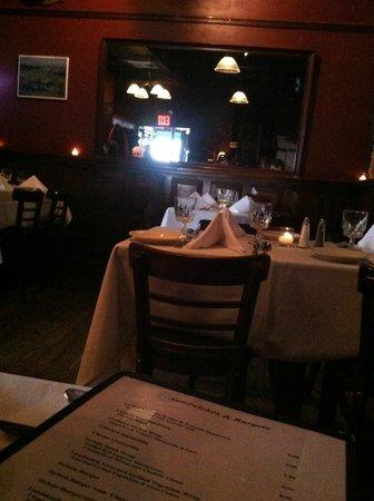 The Landmark Tavern : Dining room behind the bar area.