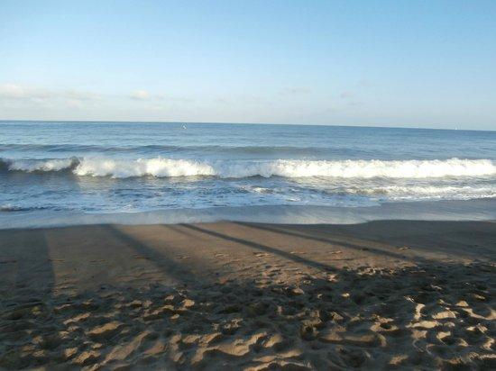 Bungalows & Trailer Park El Caracol: El mar muy tranquilo a pesar de la luna llena