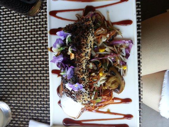 Quimbombo: Salmon con semillas