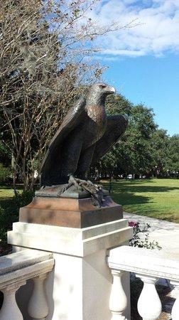 Memorial Park: Eagle sculpture