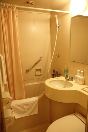 Hearton Hotel Shinsaibashi : Bathroom, small, dated, but very clean with strong water