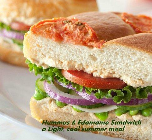 Atlanta Bread: Hummus and Edamame Sandwich
