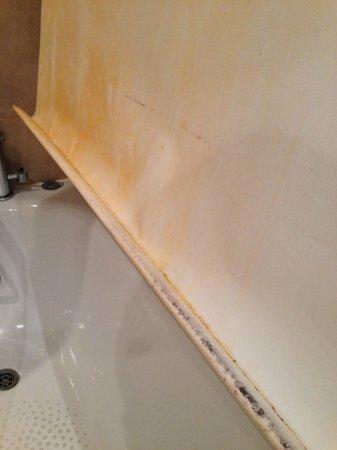 The Tophams Hotel Belgravia: Mouldy shower blind