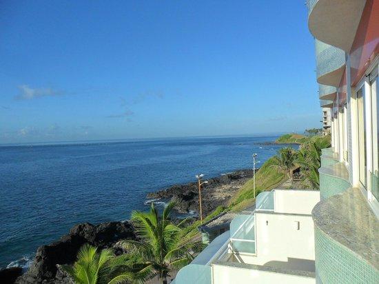 Vila Gale Salvador: Vista do apartamento: mar maravilhoso