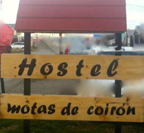 Hostel Motas de Coiron: Cartel exterior