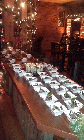 Warehouse 201: Christmas party desert bar