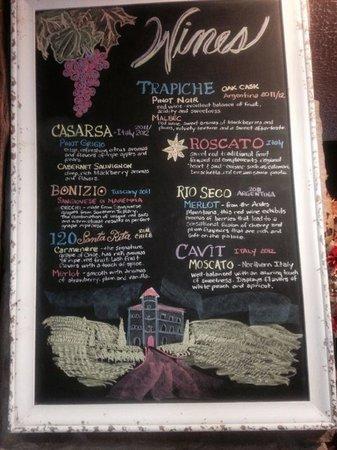 Scotto's Italian Restaurant : Wine's Menu