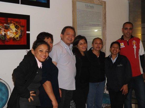 Hotel Vila Santa Miraflores: COMPARTIENDO CON EL EQUIPO DEL HOTEL