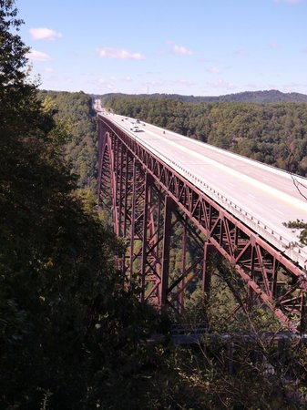 New River Gorge Bridge: A more normal perspective of the bridge.